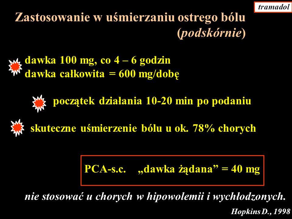 Zastosowanie w uśmierzaniu ostrego bólu (podskórnie)