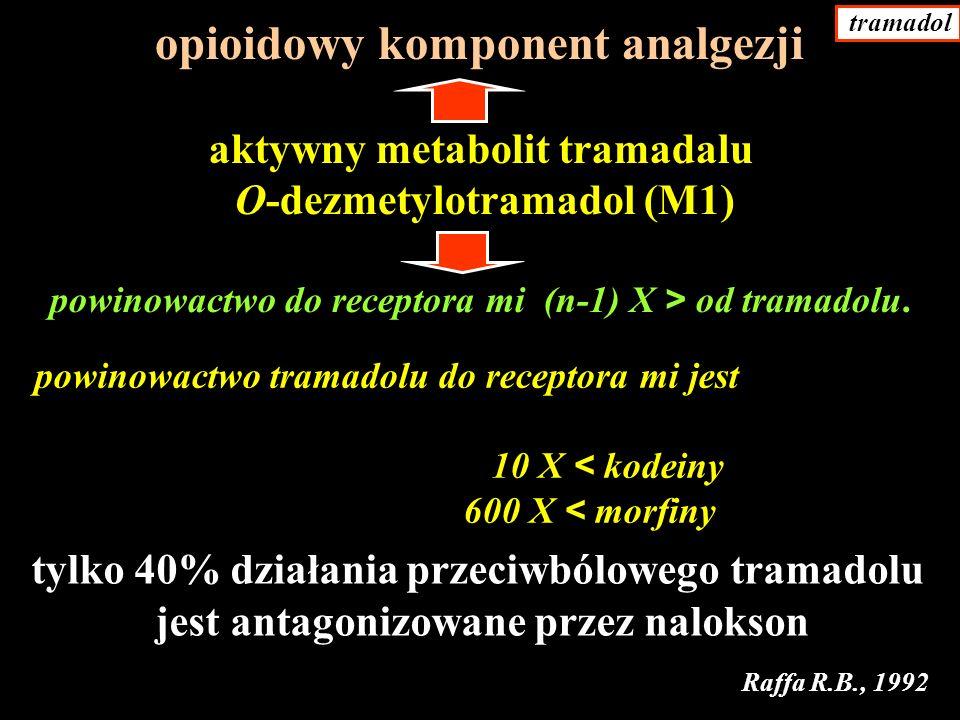 opioidowy komponent analgezji