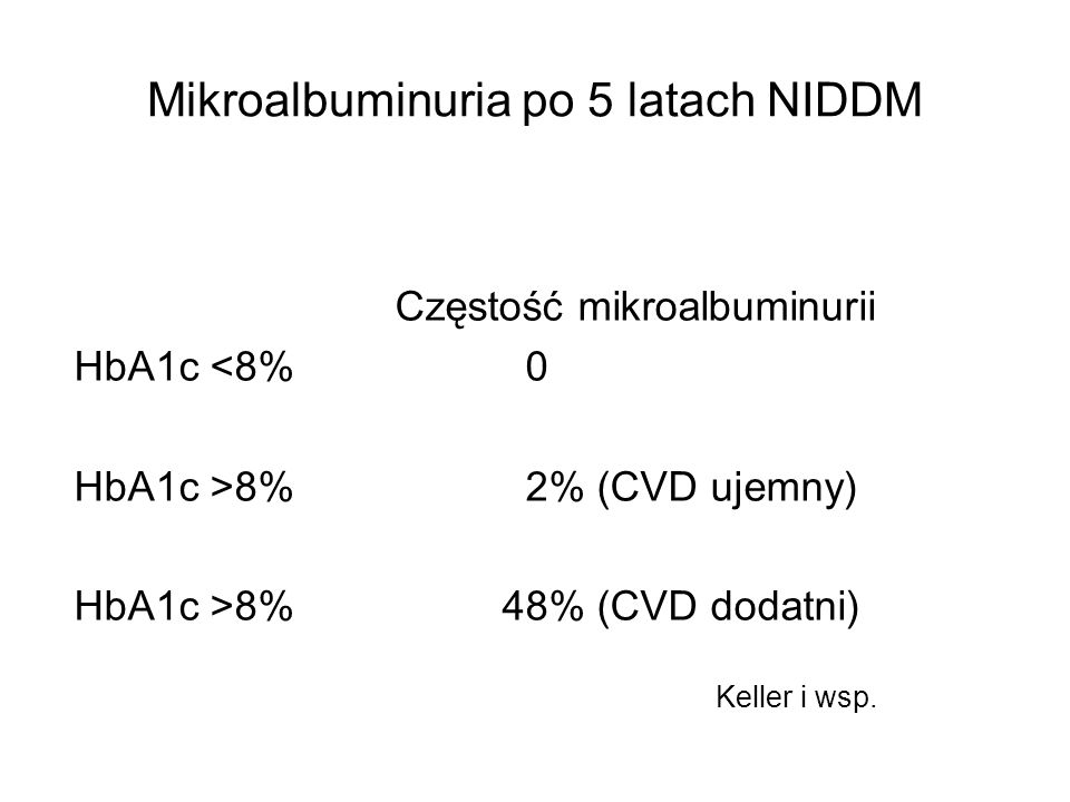 Mikroalbuminuria po 5 latach NIDDM