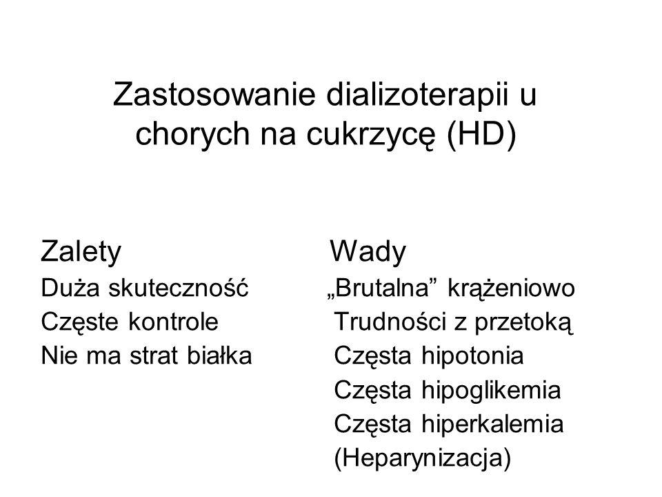 Zastosowanie dializoterapii u chorych na cukrzycę (HD)