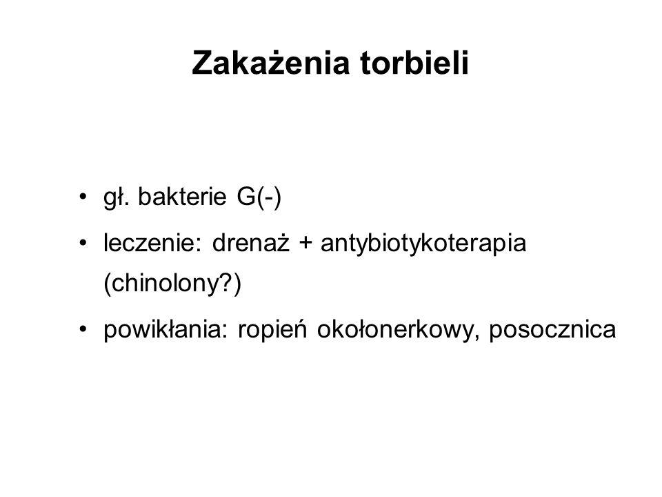 Zakażenia torbieli gł. bakterie G(-)