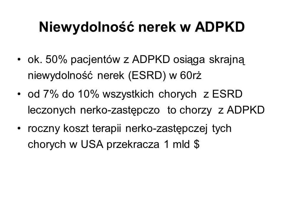Niewydolność nerek w ADPKD