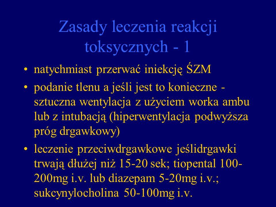 Zasady leczenia reakcji toksycznych - 1