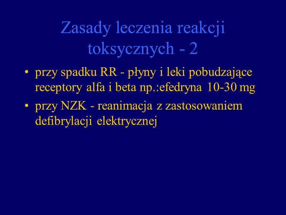 Zasady leczenia reakcji toksycznych - 2
