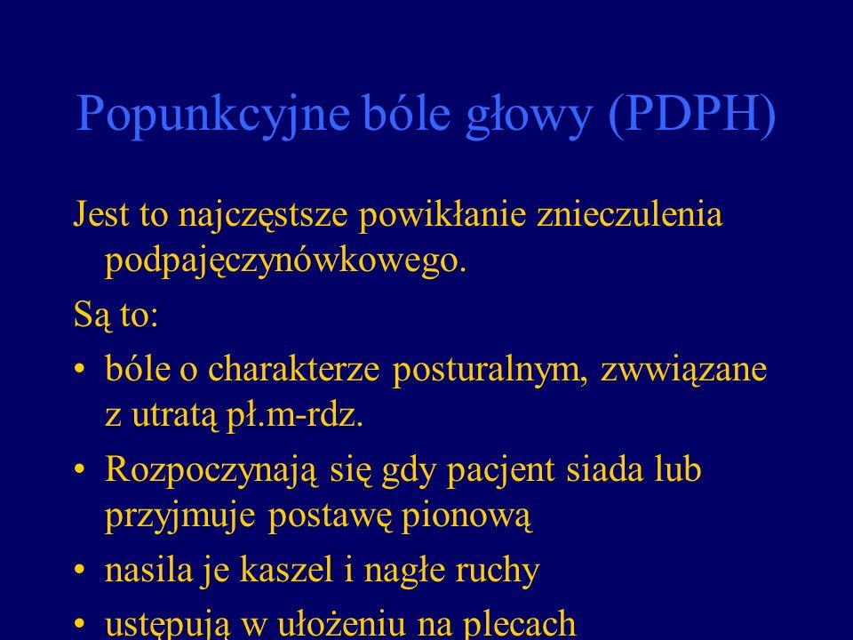 Popunkcyjne bóle głowy (PDPH)