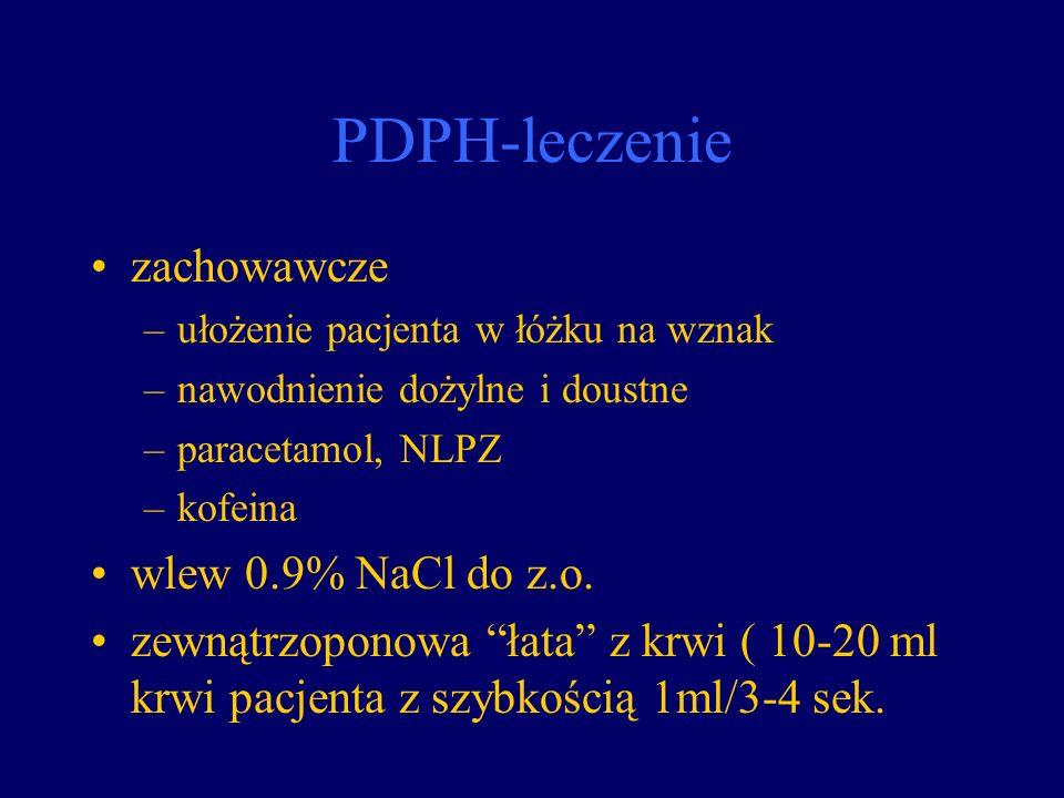 PDPH-leczenie zachowawcze wlew 0.9% NaCl do z.o.