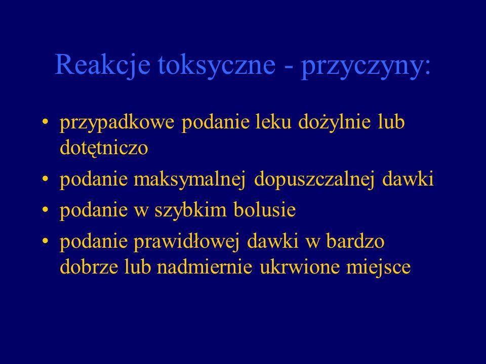 Reakcje toksyczne - przyczyny: