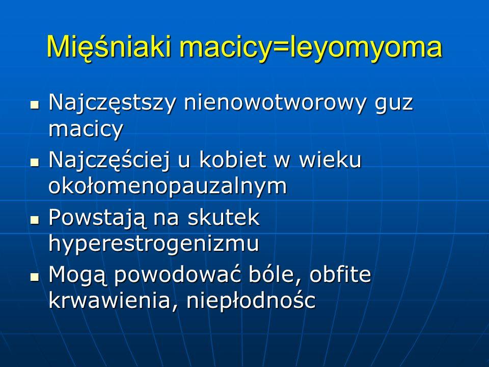 Mięśniaki macicy=leyomyoma