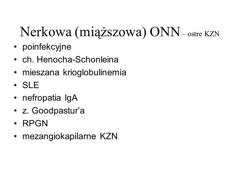 Nerkowa (miąższowa) ONN – ostre KZN