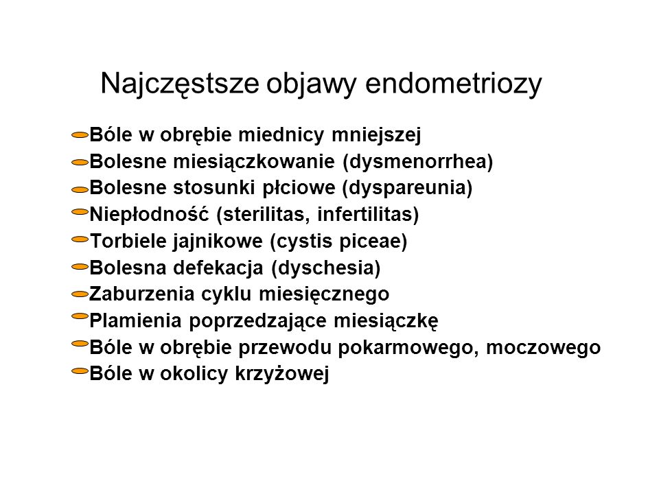 Najczęstsze objawy endometriozy