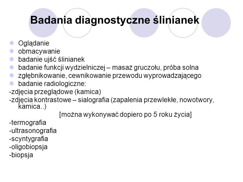 Badania diagnostyczne ślinianek