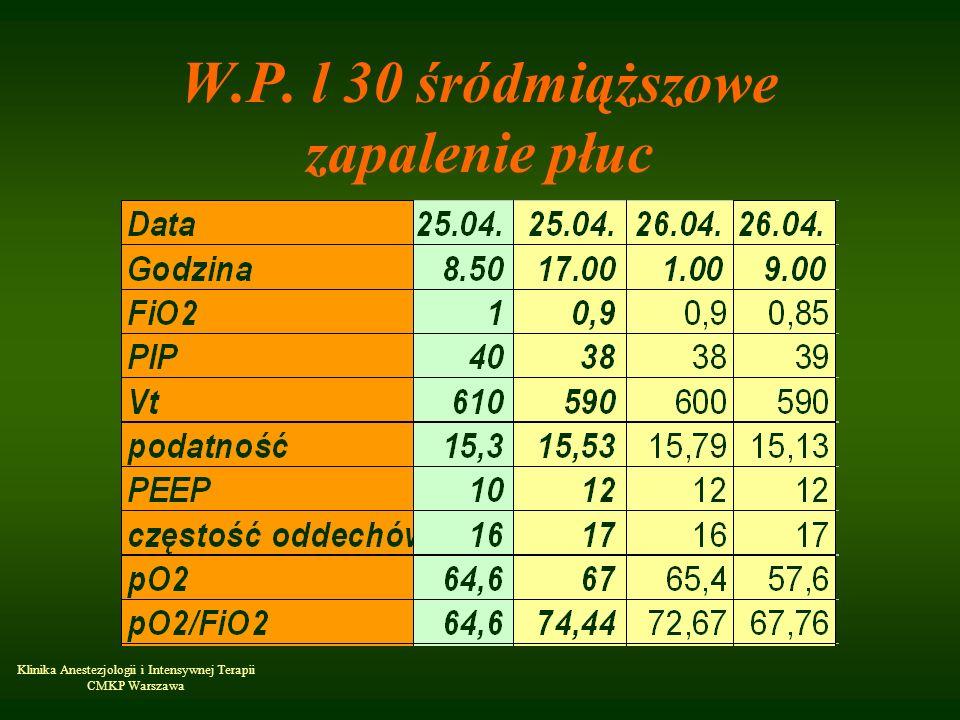 W.P. l 30 śródmiąższowe zapalenie płuc