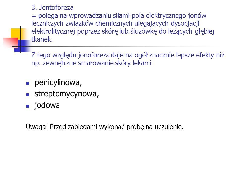 penicylinowa, streptomycynowa, jodowa