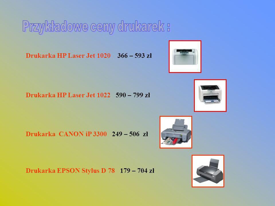 Przykładowe ceny drukarek :