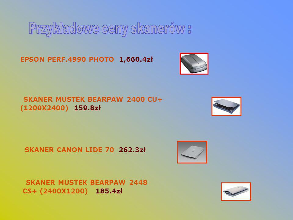 Przykładowe ceny skanerów :