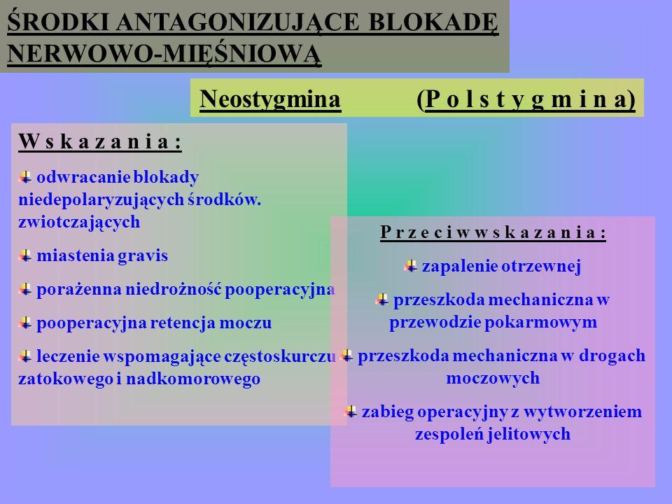 Neostygmina (P o l s t y g m i n a)