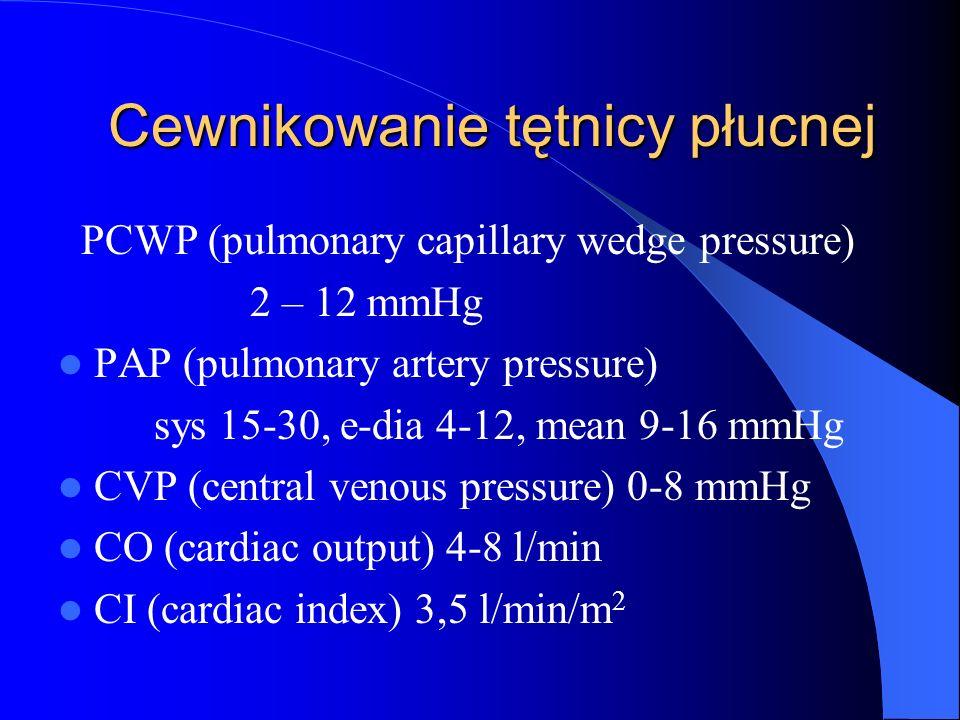 Cewnikowanie tętnicy płucnej