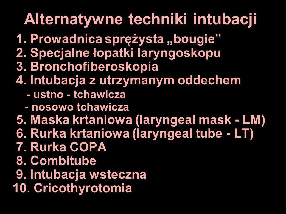 Alternatywne techniki intubacji
