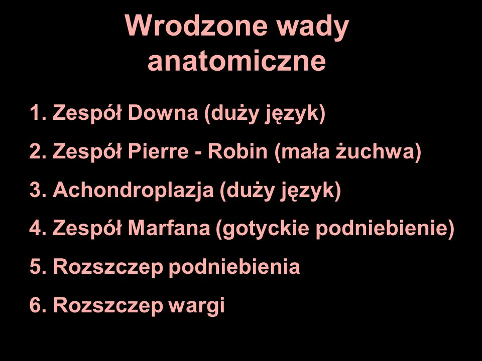 Wrodzone wady anatomiczne