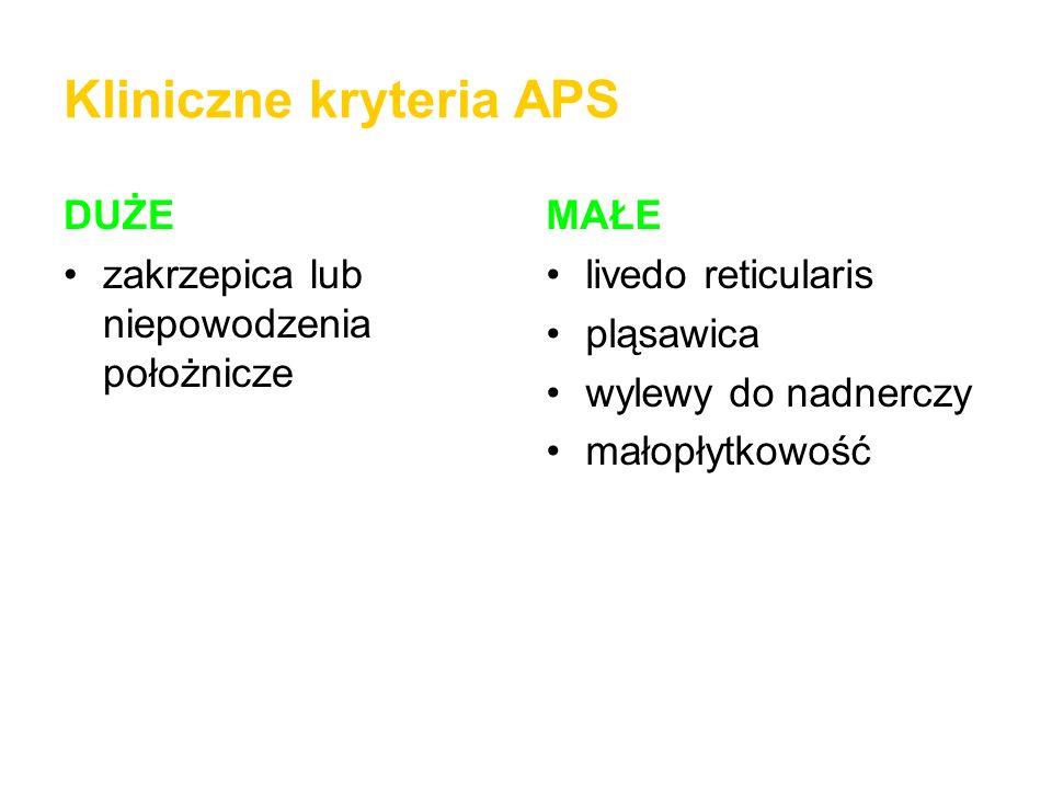 Kliniczne kryteria APS