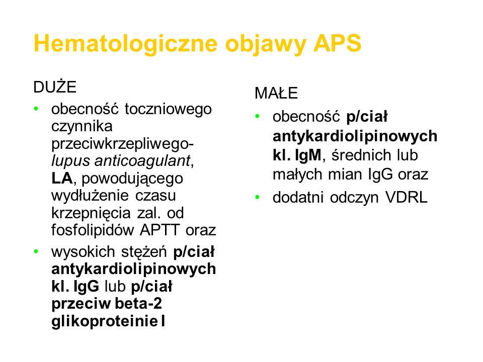 Hematologiczne objawy APS