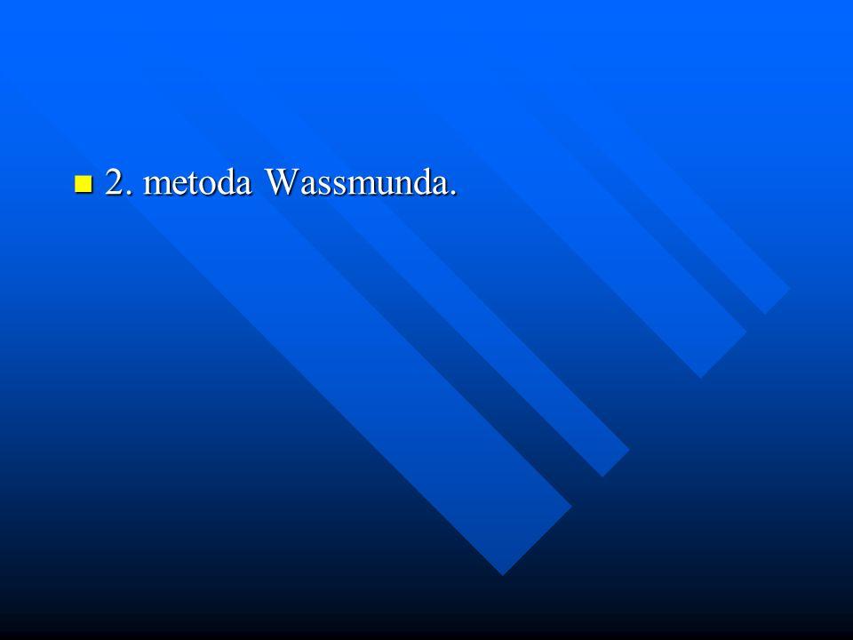 2. metoda Wassmunda.