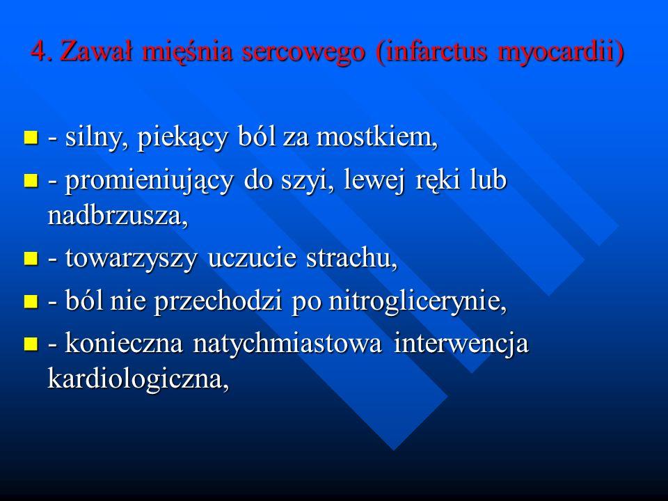 4. Zawał mięśnia sercowego (infarctus myocardii)
