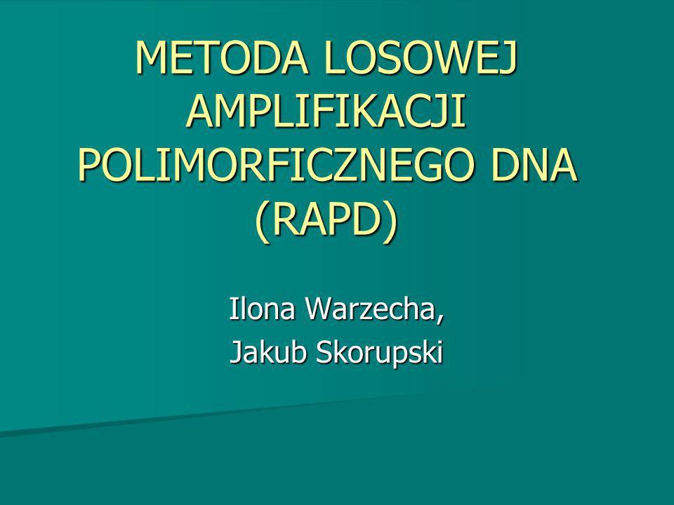 METODA LOSOWEJ AMPLIFIKACJI POLIMORFICZNEGO DNA (RAPD)