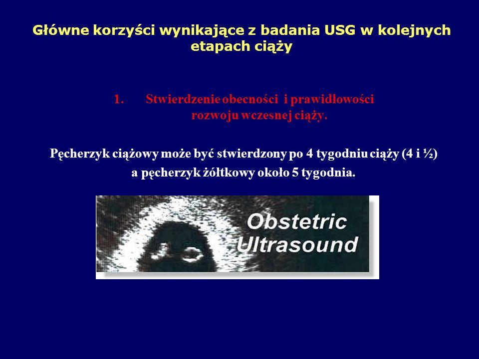 Główne korzyści wynikające z badania USG w kolejnych etapach ciąży