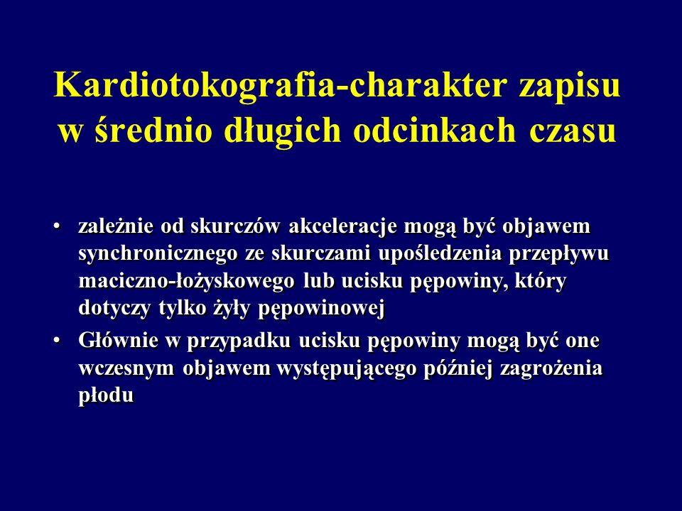 Kardiotokografia-charakter zapisu w średnio długich odcinkach czasu