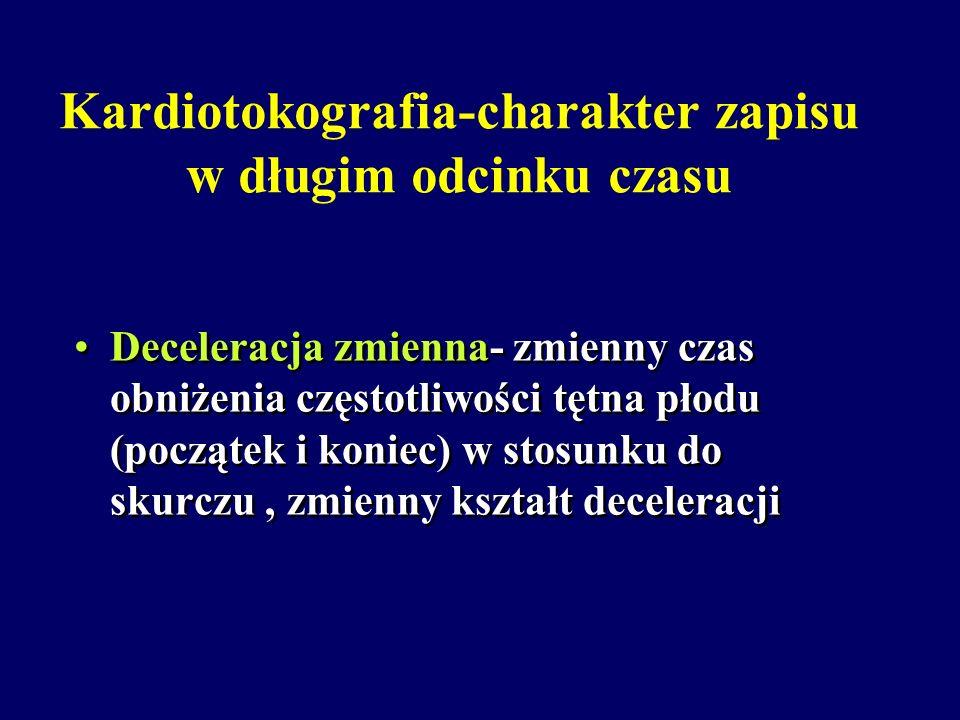 Kardiotokografia-charakter zapisu w długim odcinku czasu
