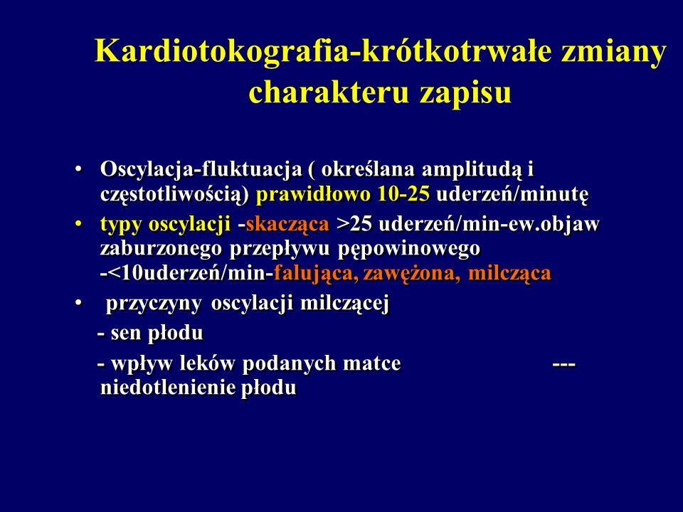 Kardiotokografia-krótkotrwałe zmiany charakteru zapisu