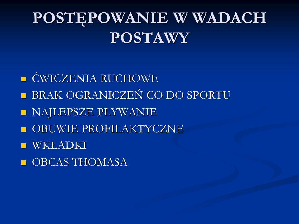POSTĘPOWANIE W WADACH POSTAWY