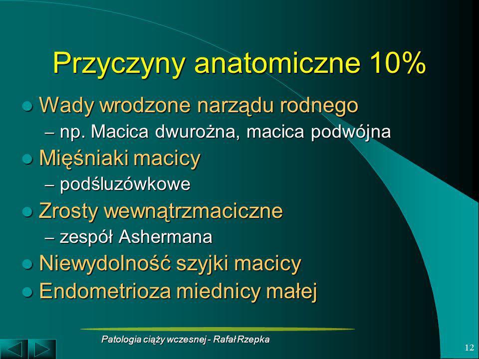 Przyczyny anatomiczne 10%