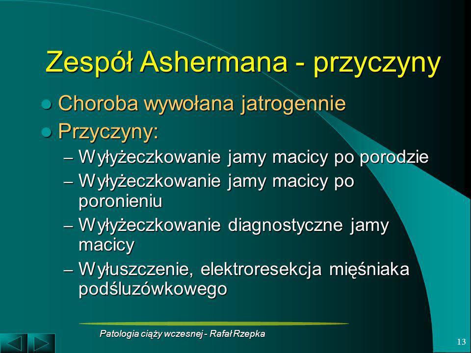 Zespół Ashermana - przyczyny