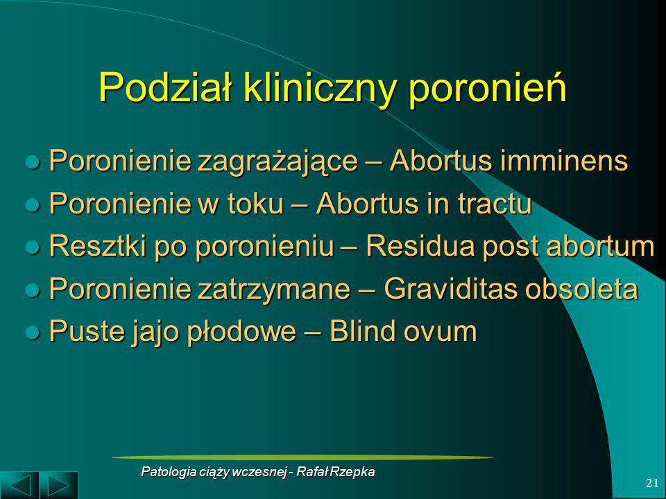 Podział kliniczny poronień