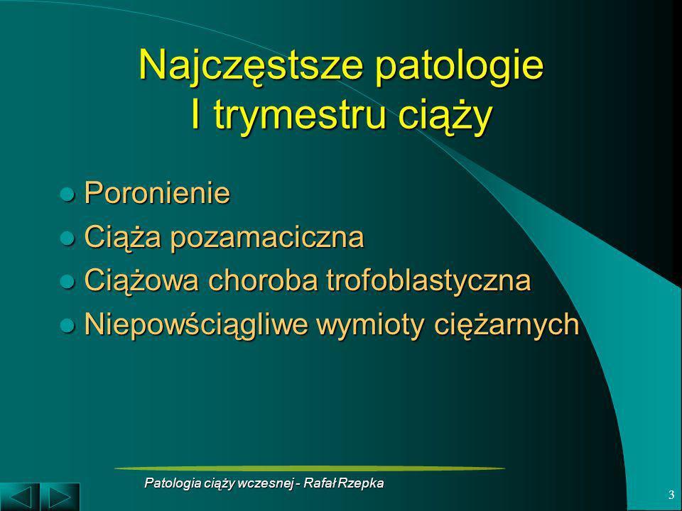 Najczęstsze patologie I trymestru ciąży