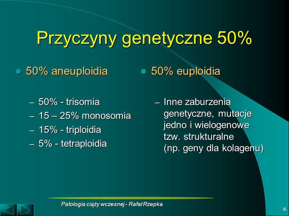 Przyczyny genetyczne 50%