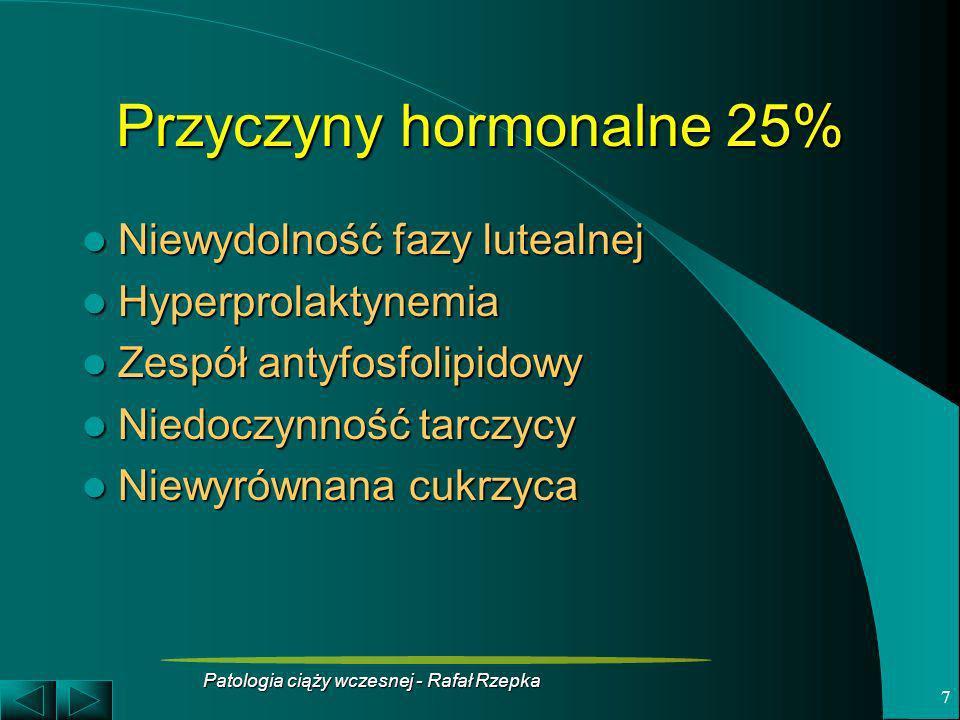 Przyczyny hormonalne 25%