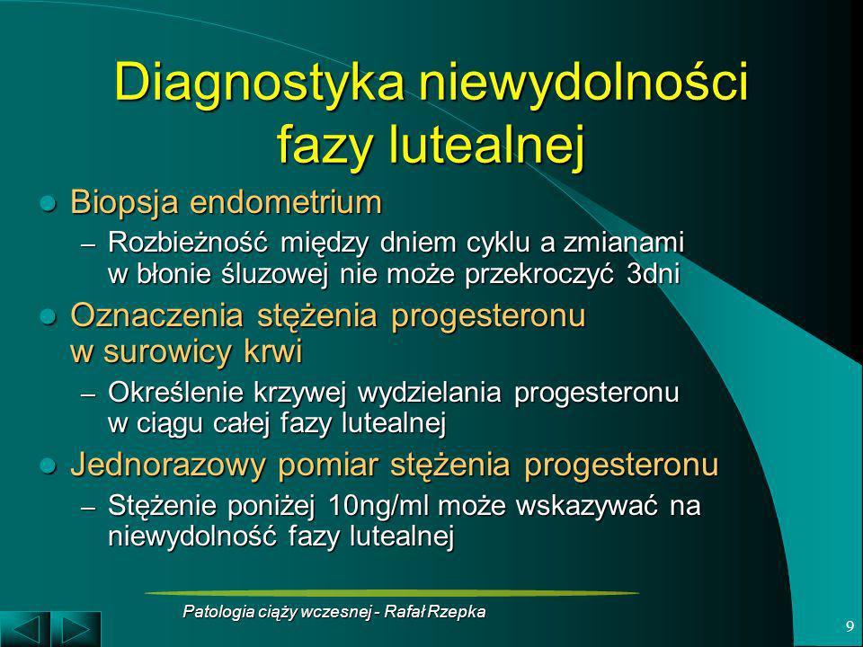Diagnostyka niewydolności fazy lutealnej