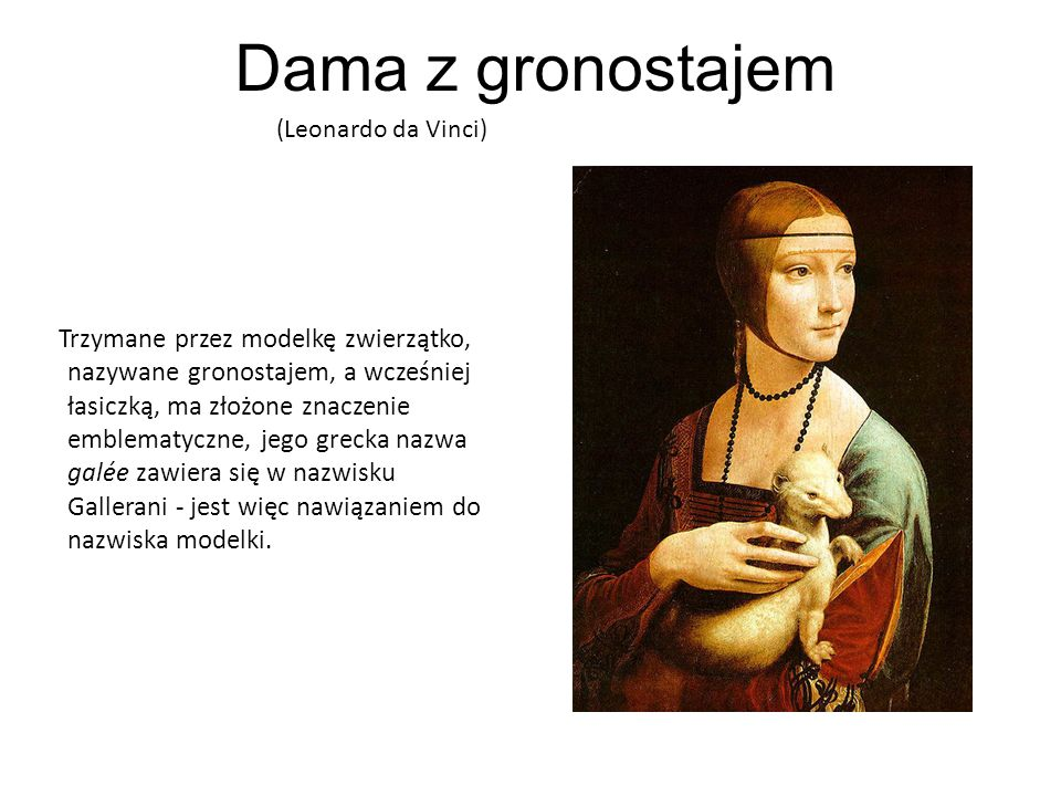 Dama z gronostajem(Leonardo da Vinci)