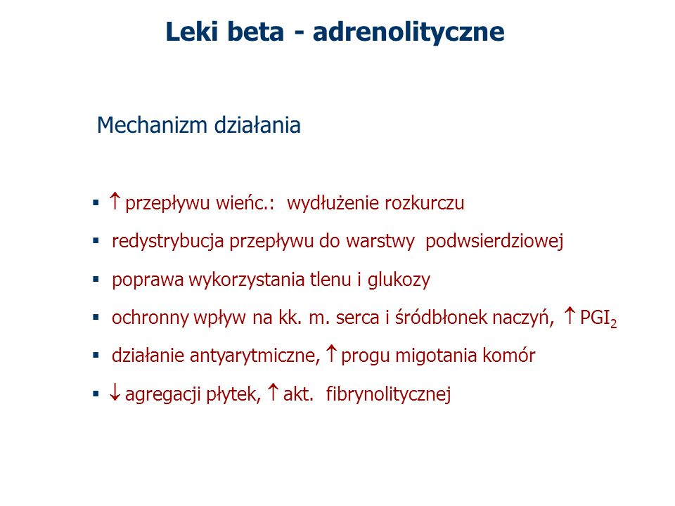 Leki beta - adrenolityczne