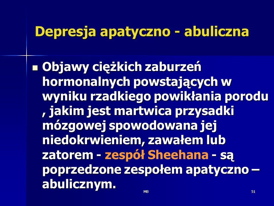Depresja apatyczno - abuliczna