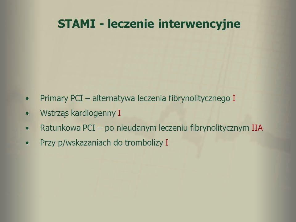 STAMI - leczenie interwencyjne
