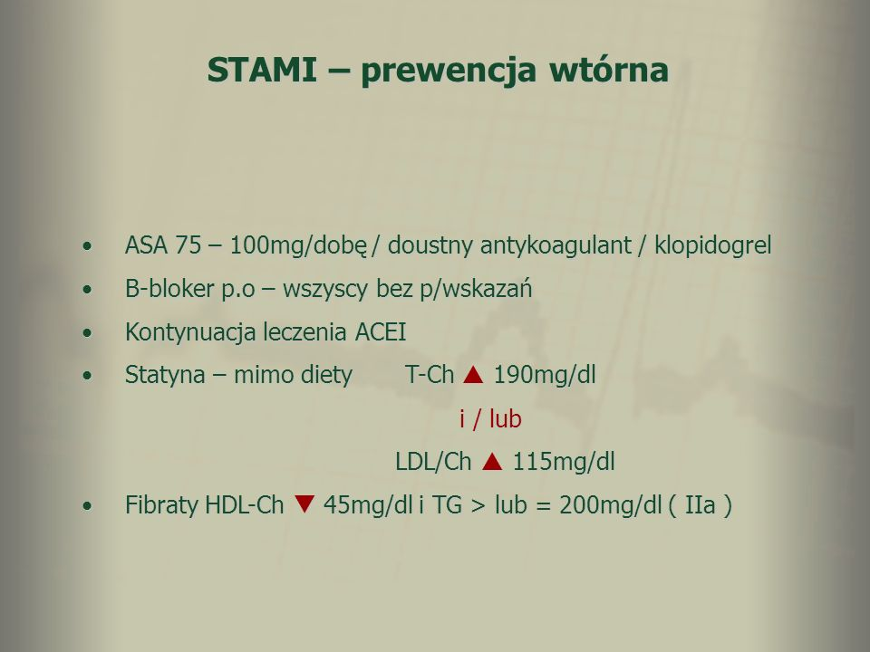 STAMI – prewencja wtórna
