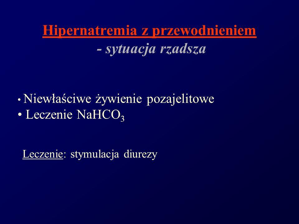 Hipernatremia z przewodnieniem - sytuacja rzadsza