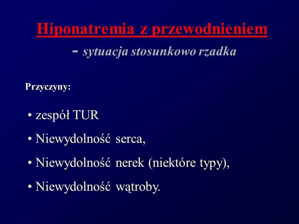 Hiponatremia z przewodnieniem - sytuacja stosunkowo rzadka