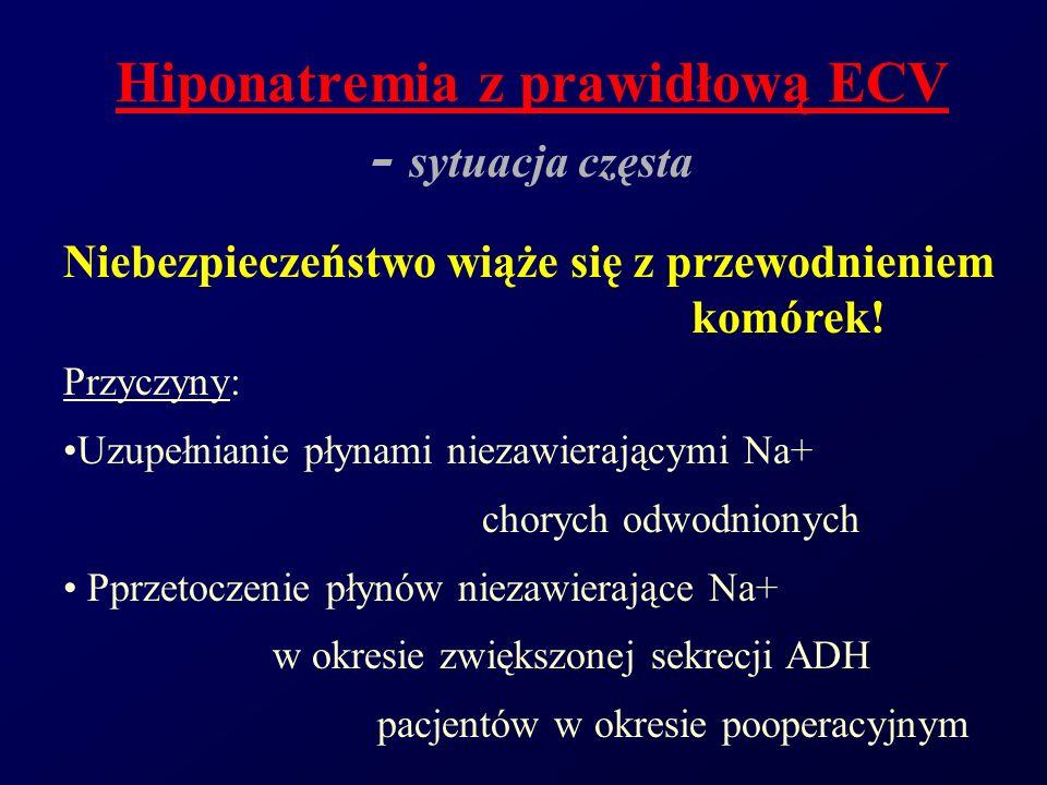 Hiponatremia z prawidłową ECV - sytuacja częsta