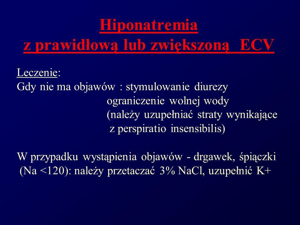 Hiponatremia z prawidłową lub zwiększoną ECV