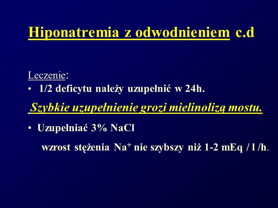 Hiponatremia z odwodnieniem c.d